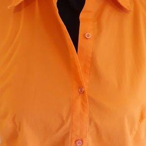 Chadwicks Tops - Orange Button Down Blouse by Chadwicks - size 12